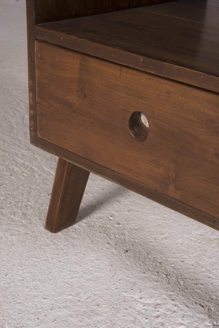 pierre jeanneret 1896 1967 suite de deux chevets dits beds. Black Bedroom Furniture Sets. Home Design Ideas