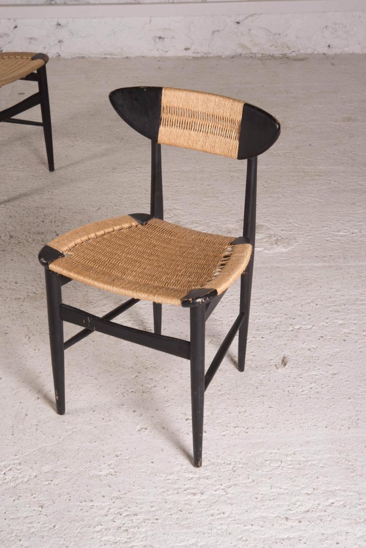 travail scandinave paire de chaises