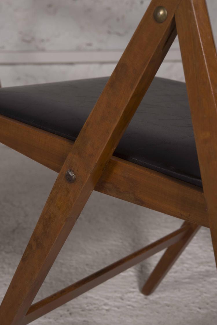 Gio ponti 1891 1979 suite de 6 chaises pliantes dites eden - Chaises de bar pliantes ...