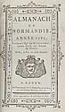 Anonyme]- Almanach de Normandie année 1789 présenté à Monseigneur de Miromesnil. Rouen, Imprimerie de Dame Besogne, 1788. In-8, 356pp. Demi-basane, dos à nerfs, ornés de caissons dorés. Un mors fendu, il manque les 4 premiers feuillets où figurait le