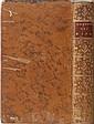 JOUSSE Daniel, Conseiller à Orléans]  Commentaire sur l'Ordonnance des Eaux et Forêts du mois d'août 1669.  Paris, chez Debure, 1777. In-8, XIV-(1)-415pp. Plein veau marbré, dos lisse ornés de fleurons dorés, tranches briques. Bon état.