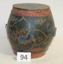 Antique Asian Spice Tub
