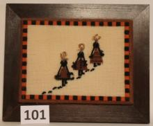 Framed Needlepoint by Lynn Gardner