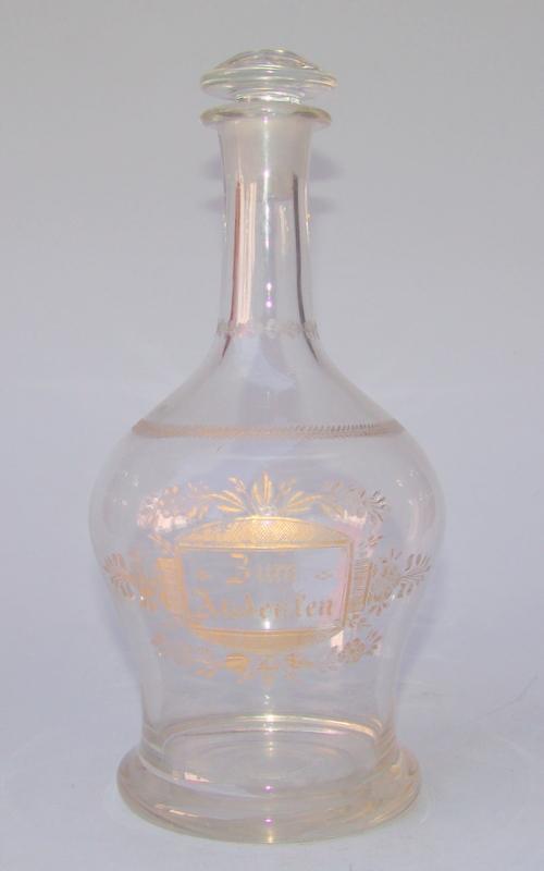 Biedermeierkaraffe um 1820