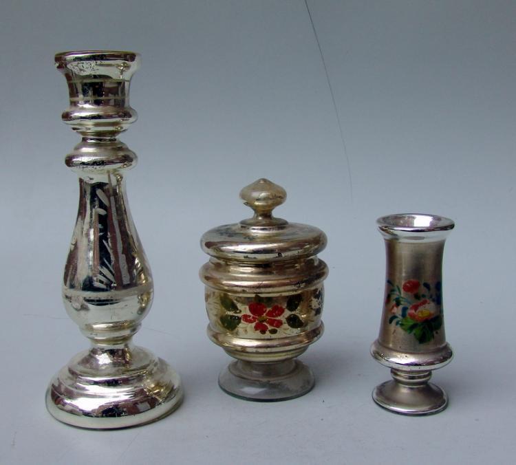 Sammlung Bauernsilber/Silberglas, 19.Jhd., 3 Teile