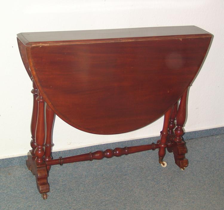 Victorianischer Gateleg Table, Ende 19.Jhd.