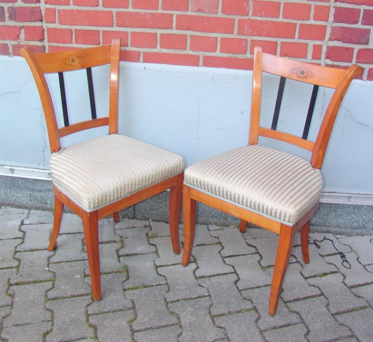 Paar Stühle des Biedermeier, norddeutsch 19.Jhd.
