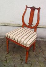 Stuhl mit Lyra-Lehne, Klassizismus, Westfalen/Rheinland um 1790