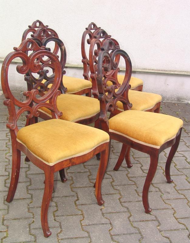 Satz von 6 frühen Stühlen des Louis Philippe, Deutschland um 1870