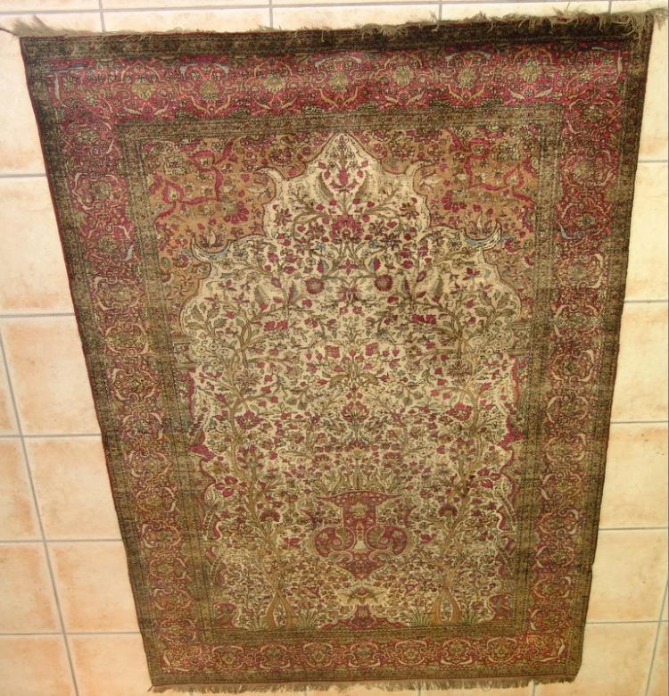 Antiker persischer Seiden Keshan, entstanden ca.1880-1900