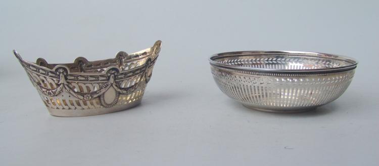 2 Durchbruchkörbchen 800er Silber