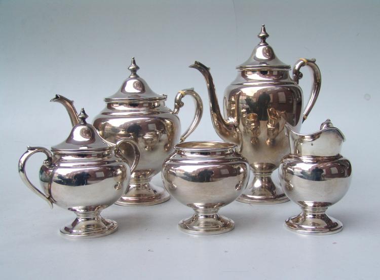 Gorham: Großer Kaffee- und Tee-Kern, Sterling, victorianische Form