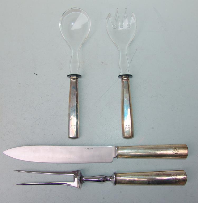 Tranchier-Besteck, 13 Lot Silber, 19.Jhd.
