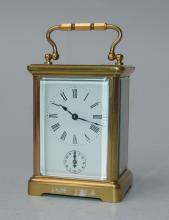 Englischer Reisewecker mit Schlag auf Glocke, um 1900