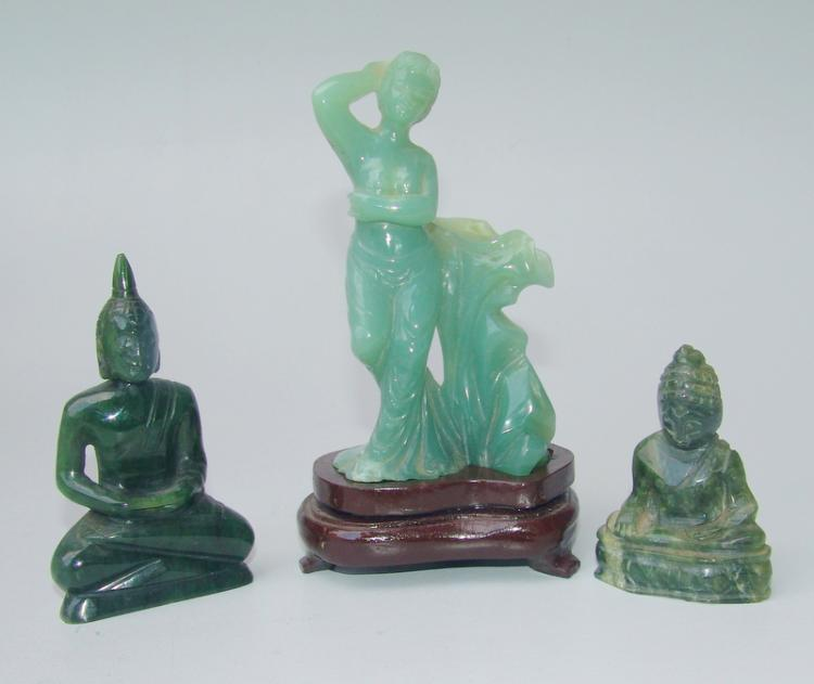 3 Teile Jadeit