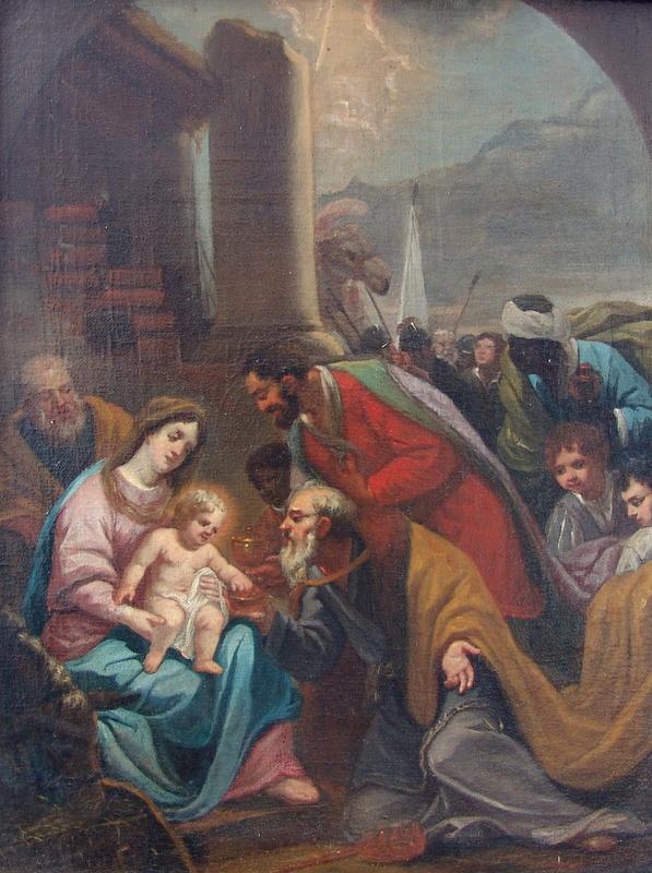 Anbetung der Heiligen drei Könige, Italien 18. Jhd.