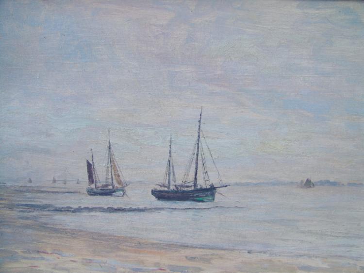 Bertelsmann, Walther (1877  Bremen; †  1963 in Worpswede): Lichtstimmung am Steinhuder Meer