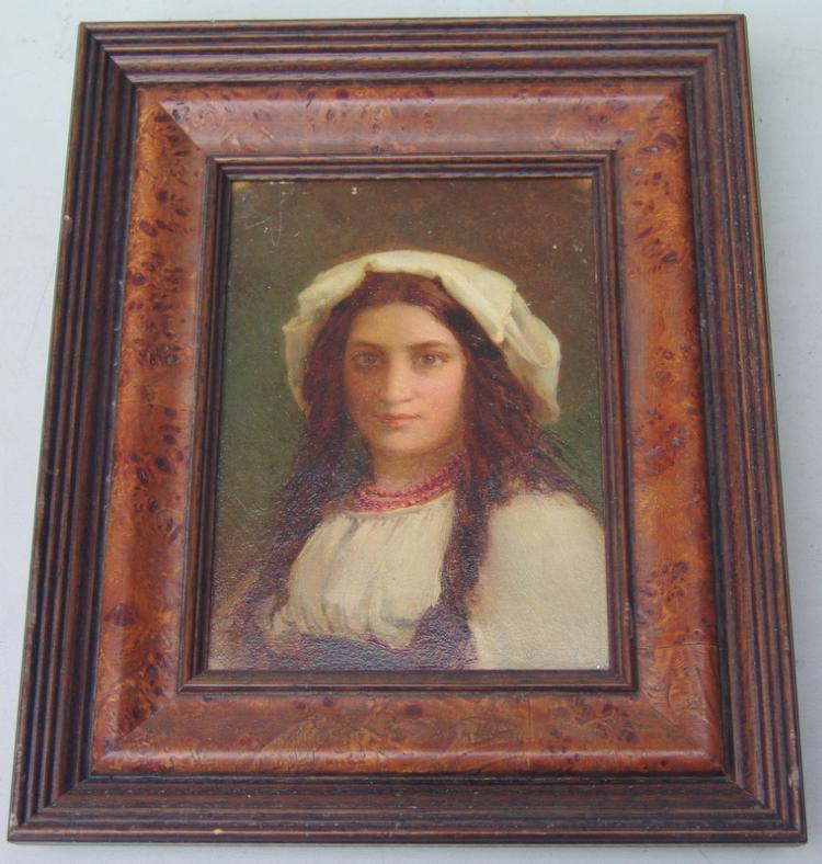 italinischer Maler der Jahrhundertwende: Porträt eines italienischen Bauernmädchens