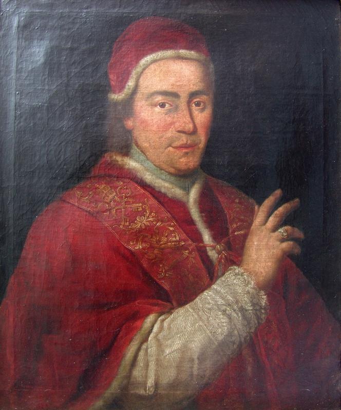 Porta, Giovanni Domenico (Schule): Zeitgenössisches Portrait von Papst Clemens XIV