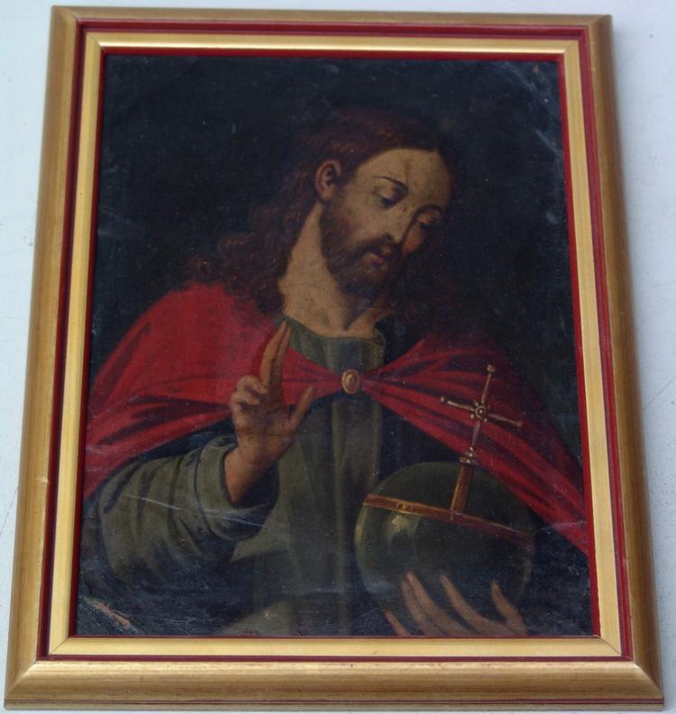 Christus als Salvator Mundi, Spanien 18. Jh.
