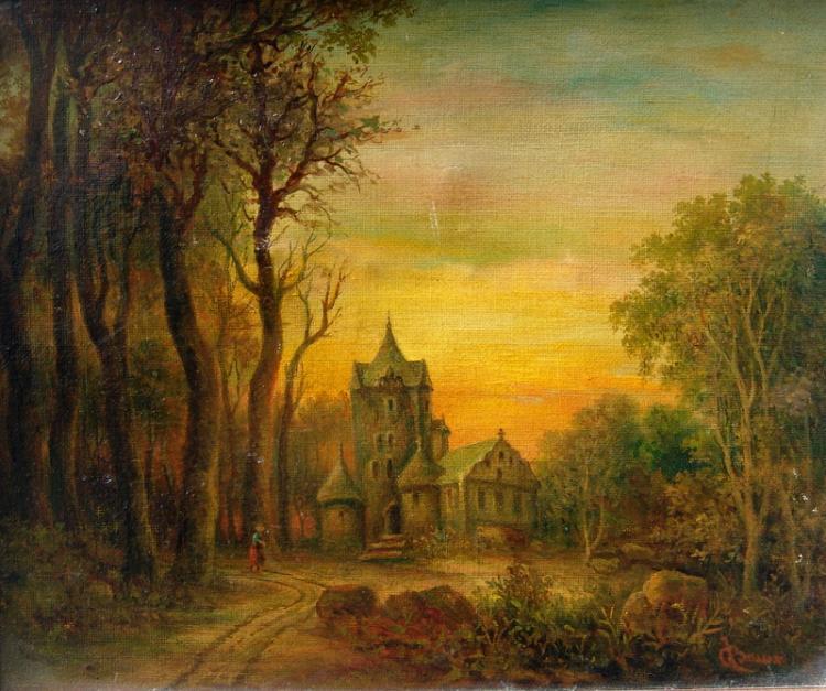 Christian, j . Unentsch.: 4 Gemälde: Die Heilige Margarethe beschenkt die Armen