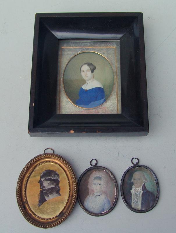 4 Miniaturbildnisse 1. H. 19.Jhd.