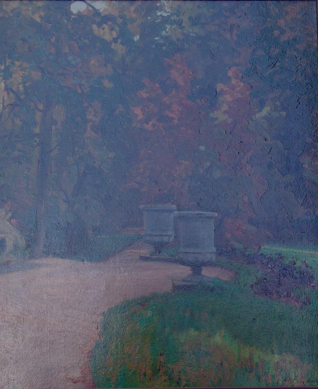 Friedrich, Woldemar (wohl) (1846 Gnadau - 1910 Berlin): Parkansicht