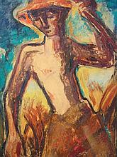 Wieschebrink, Clemens (1900 Münster - 1971 Gronau): Bildnis eines Landarbeiters