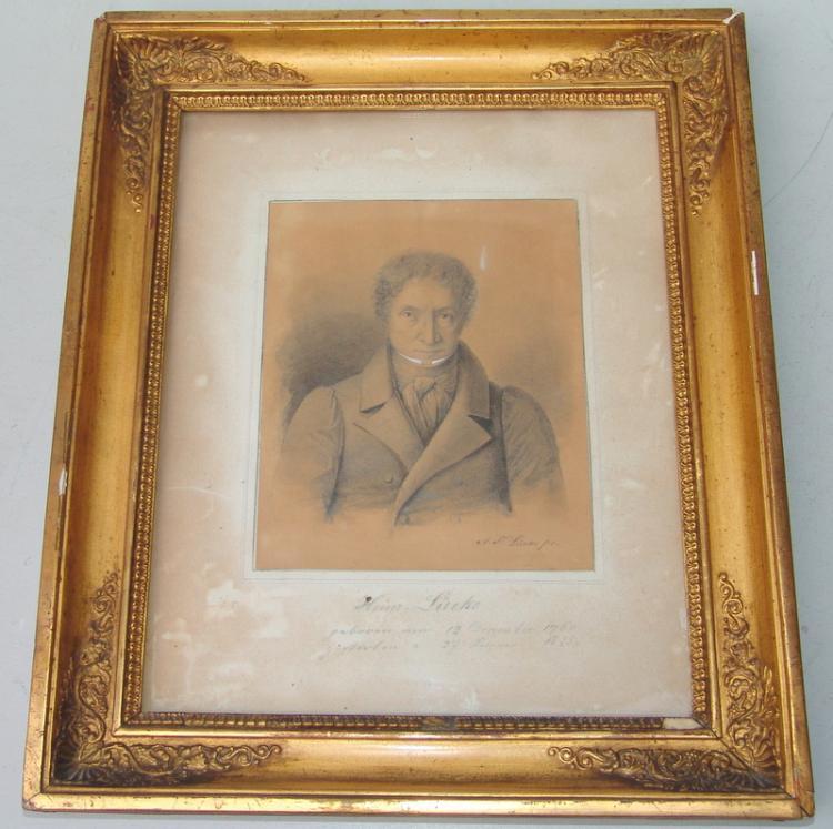 Biedermeierportrait von H. Lücke um 1820
