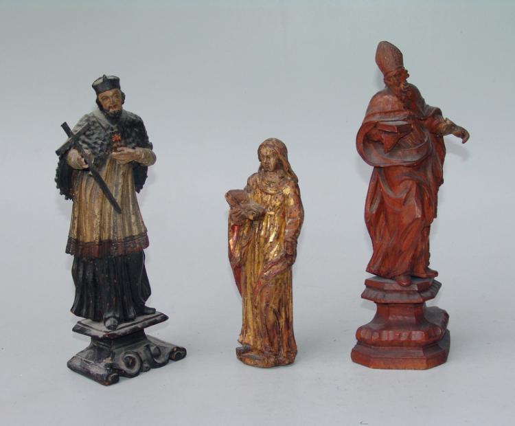 3 Heiligendarstellungen des 18.Jhd.