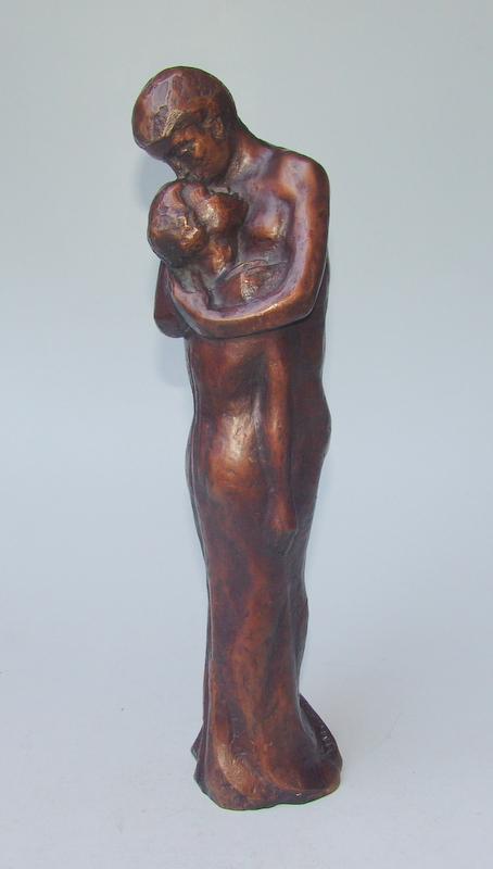 Scholl, Ulla (1919 in Darmstadt; †  2011 in Dachau): Liebespaar in Umarmung :