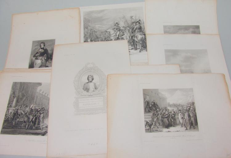 29 Blatt Napoleon Kupferstiche und Radierungen 19. Jh