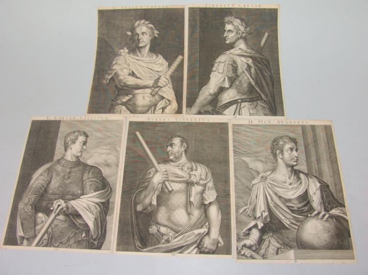 13 Blatt Altmeistergraphik: Herrscher und Könige