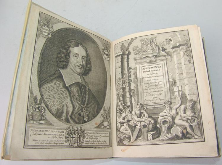 Ferdinand von Fürstenberg: Monumenta Paderbornensia -ex Historia Romana… Nürnberg 1713
