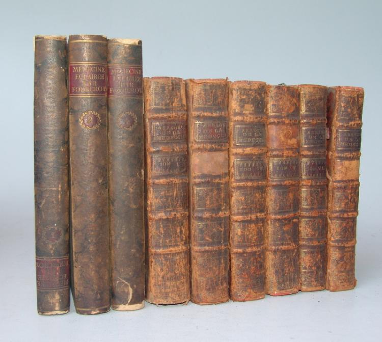 Medizinische Bücher, Frankreich 1791 und 1741