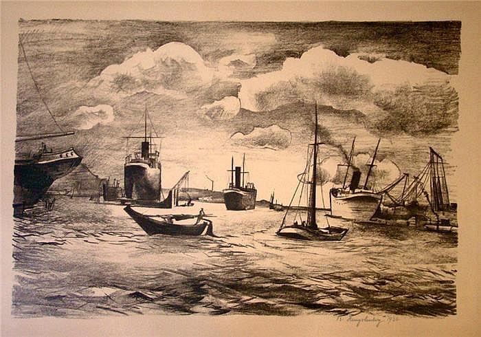 Hengstenberg, Rudolf (1894-1974) Hafen mit