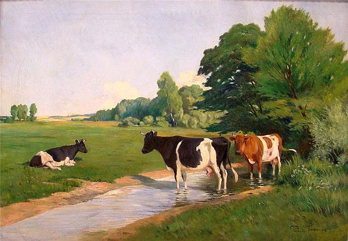 Thomas, Paul (1868 Limoges 1910) Sommerlandschaft