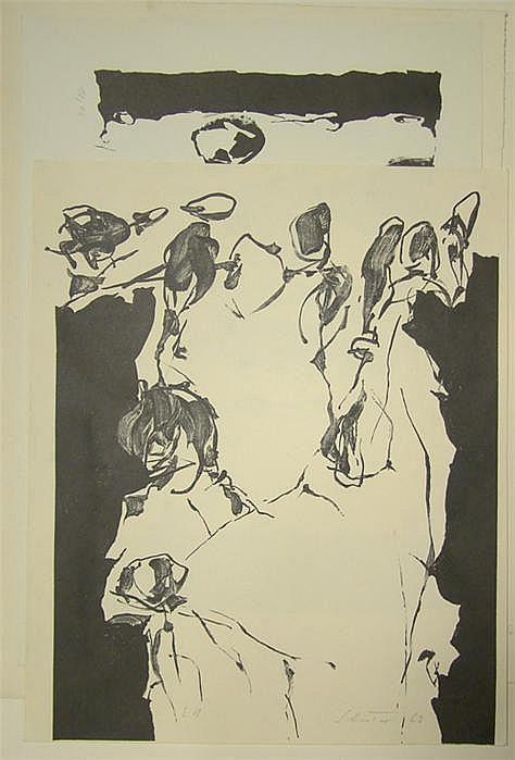 Schreiter, Johannes (geb. 1930) 5 Lithographien: