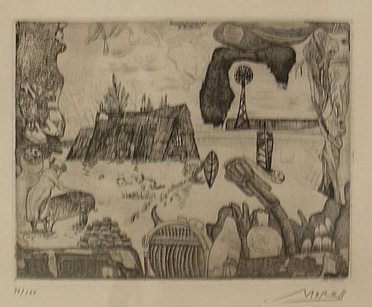 Morell, Pit (geb.1939) Konzentrierte Landschaft an
