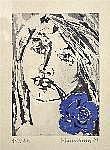 Womacka, Walter (1925-2010) Mädchen mit blauer