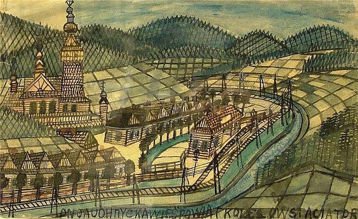 Nikifor (Krynicki) (1895 Polen 1968) Landschaft