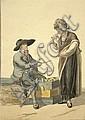 Langendijk, Dirk (1748-1805) Der Käseverkäufer., Dirk Langendijk, Click for value