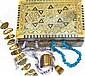 2 Edelsteinketten, Armband und Lot Halbedelsteine