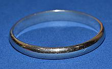 WHITING & DAVIS SILVER OVAL BANGLE BRACELET   Mark, Whiting & Davis. Condition all jewelry sold as is.