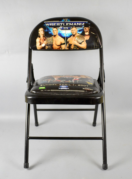 WWE WRESTLEMANIA 23 FOLDING CHAIR - Sunday April 1 2007 Featuring Donald Trump : wwe chairs - lorbestier.org