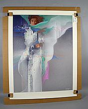 ROBERT PEAK (AMERICAN, 1927-1992) SERIGRAPH ''TARA'' - Not Framed; Signed Lower Right, Numbered lower left 172/350; Measures 40''H x 31''W; Provenance: From the estate of Billy Brashier ''The Legend'' Projectionist in Hollywood for major films such as Forrest Gump, Rainman, Jurassic Park and many more. Born in Harmony Mississippi, Billy Brashier settled in Hollywood and split residence between Studio City, CA and Pittsburgh, PA - Condition: Age appropriate wear; All items sold as is.