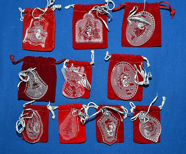 Waterford Christmas Ornaments.4 Four Waterford Crystal Christmas Ornaments All Include