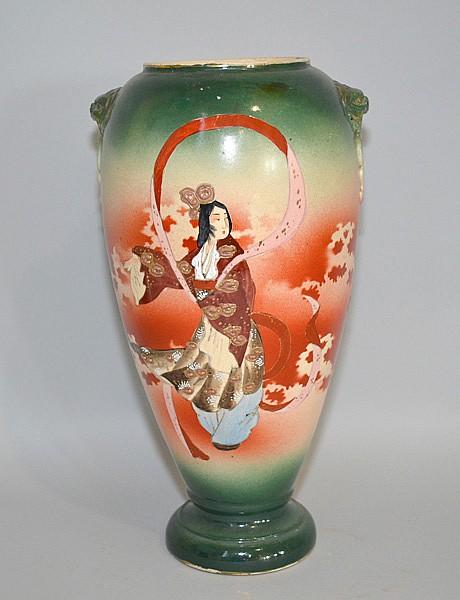 Japanese Moriage Vase Japanese Ceramic Vase Body Shading G