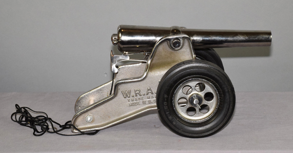 CHROME WINCHESTER 98 SIGNAL CANNON WITH TIRES - Lanyard fire