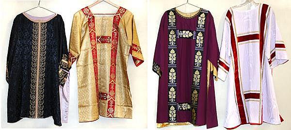 FOUR DEACON'S DALMATIC VESTMENTS  A perfect gift for a perma